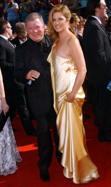 William Shatner, Elizabeth (wife) at 60th Primetime EMMY Awards - Arrivals at Nokia Theater in Los Angeles, CA. USA