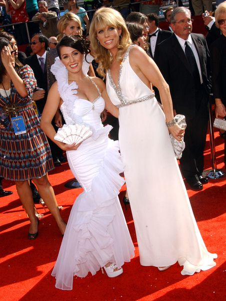 Christine DeRosa, Cheryl Hines at 60th Primetime EMMY Awards - Arrivals at Nokia Theater in Los Angeles, CA. USA