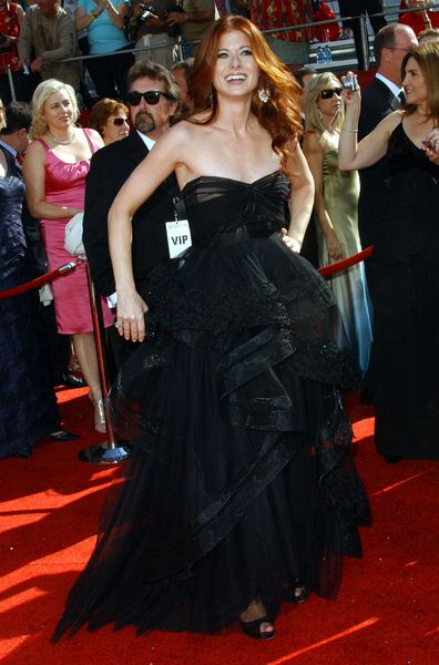 Debra Messing at 60th Primetime EMMY Awards - Arrivals at Nokia Theater in Los Angeles, CA. USA