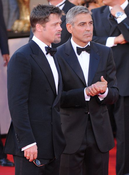 Brad Pitt, George Clooney at 65th Annual Venice Film Festival - 'Burn After Reading' Premiere at Palazzo del Casino, Venice, Italy