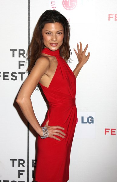 Natassia Malthe at 7th Annual Tribeca Film Festival - 'I Am Because We Are' Premiere - Arrivals - Borough of Manhattan Community College, Tribeca Performing Arts Center, New York City, NY, USA