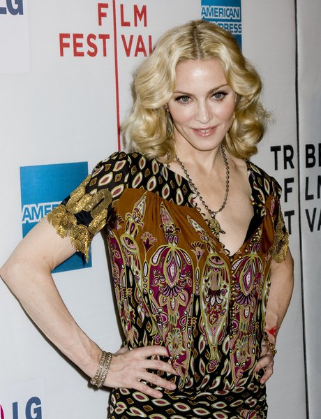 Madonna at 7th Annual Tribeca Film Festival - 'I Am Because We Are' Premiere - Arrivals - Borough of Manhattan Community College, Tribeca Performing Arts Center, New York City, NY, USA