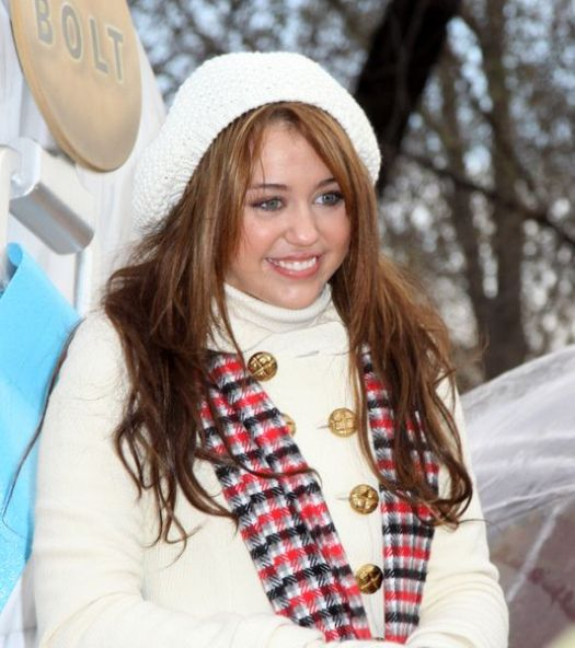 Miley Cyrus at 82nd Annual Macy's Thanksgiving Day Parade at Streets of Manhattan, New York City, NY, USA