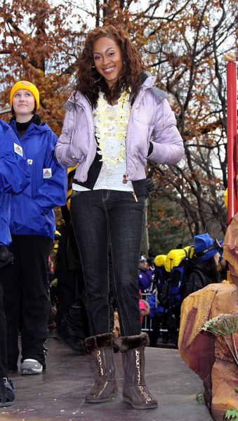 Shontelle at 82nd Annual Macy's Thanksgiving Day Parade at Streets of Manhattan, New York City, NY, USA