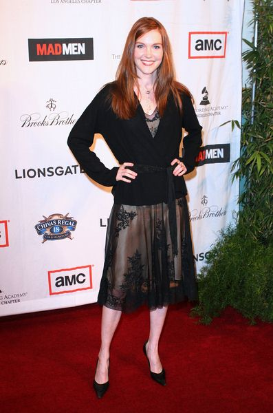Darby Stanchfield at 'A Night on the Town with Mad Men' Live Revue - Arrivals at El Rey Theater, Los Angeles, CA, USA