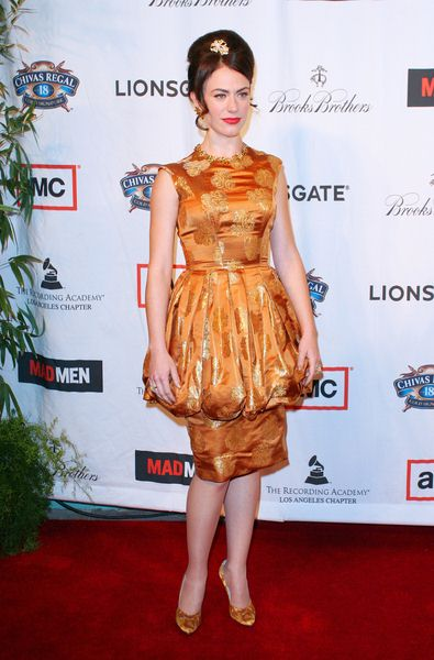 Maggie Siff at 'A Night on the Town with Mad Men' Live Revue - Arrivals at El Rey Theater, Los Angeles, CA, USA