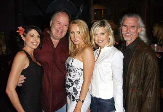 Jamie Carson, Dennis Haskins, Alana Curry, Kelly Vaughn, Camden Toy at Alana Curry Birthday Celebration - Vice, Hollywood, CA. USA