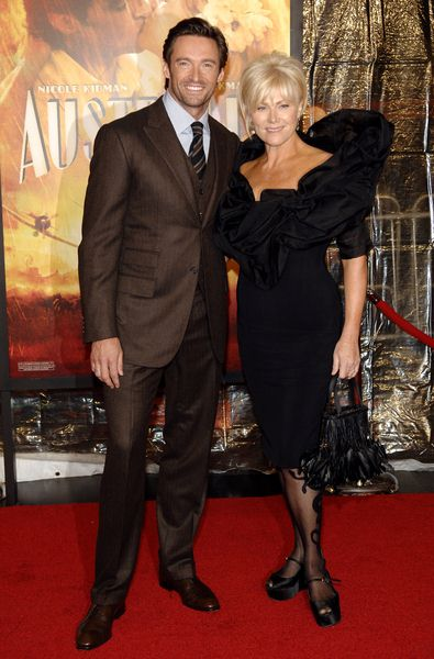 Hugh Jackman, Deborra-Lee Furness at 'Australia' New York City Premiere at Ziegfeld Theatre, New York City, NY, USA