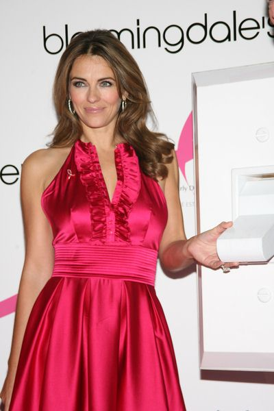 Elizabeth Hurley at Bloomingdale's '59th Street Shines Pink' to Benefit the Breast Cancer Research Foundation - Bloomindale's at 59th Street and Lexington Avenue, New York City, NY, USA