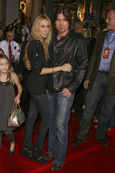 Tish Cyrus, Billy Ray Cyrus at 'Bolt' World Premiere at El Capitan Theatre in Hollywood, CA, USA