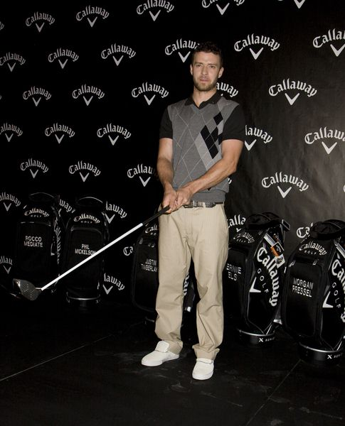 Justin Timberlake at Callaway Golf's New FT-iQ Driver Launch Party at Grand Central Terminal, New York City, NY, USA