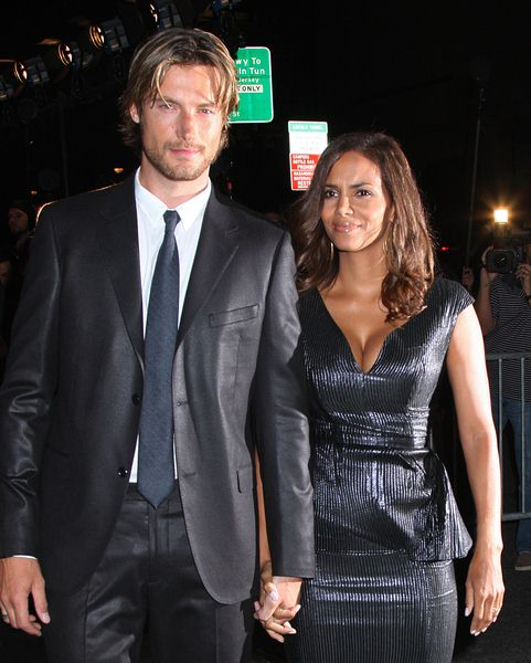 Gabriel Autry, Halle Berry at Calvin Klein 40th Anniversary Celebration - High Line, New York City, NY, USA