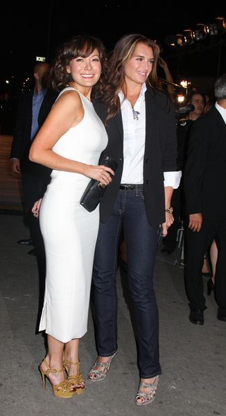 Lindsay Price, Brooke Shields at Calvin Klein 40th Anniversary Celebration - High Line, New York City, NY, USA
