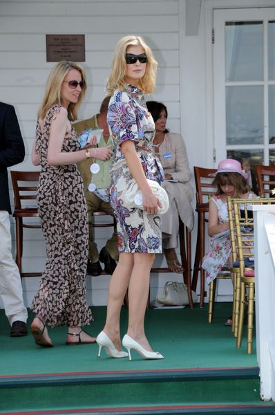 Rosamund Pike at Cartier International Polo 2008 Tournament - Guards Polo Club, Windsor Great Park, England