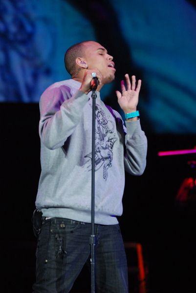 Chris Brown at Chicago's B96 Jingle Bash 2008 at Allstate Arena, Rosemont, IL, USA