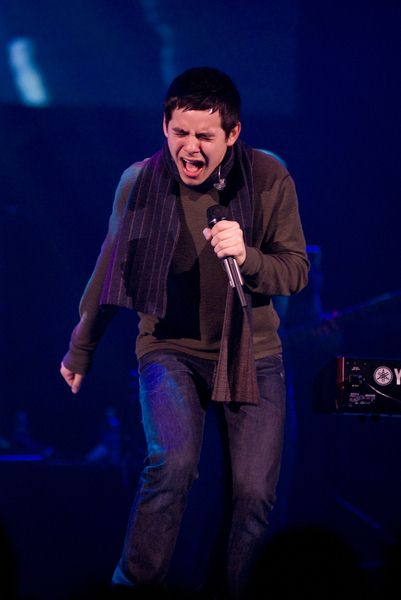 David Archuleta (American Idol Seventh Season) at Chicago's B96 Jingle Bash 2008 at Allstate Arena, Rosemont, IL, USA