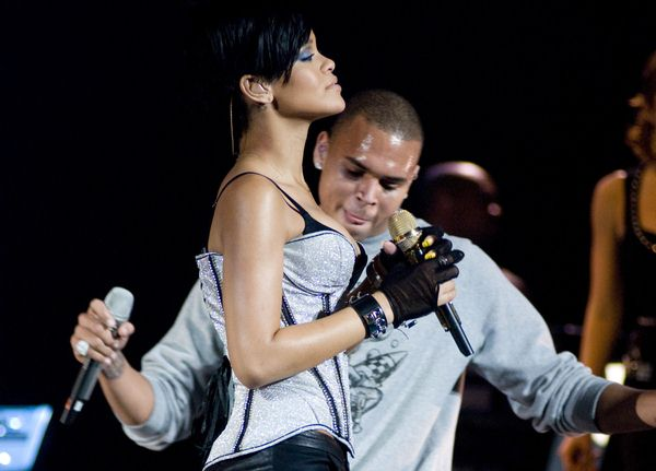 Rihanna, Chris Brown at Chicago's B96 Jingle Bash 2008 at Allstate Arena, Rosemont, IL, USA