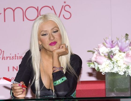 Christina Aguilera at Christina Aguilera Launches Her New Fragrance 'Inspire' at Macy's in New York City, NY, USA