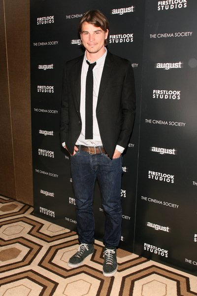Josh Hartnett at The Cinema Society Hosted a Special Screening of 'August' at Tribeca Grand Screening Room, 2 Avenue of The Americas, New York City, NY, USA