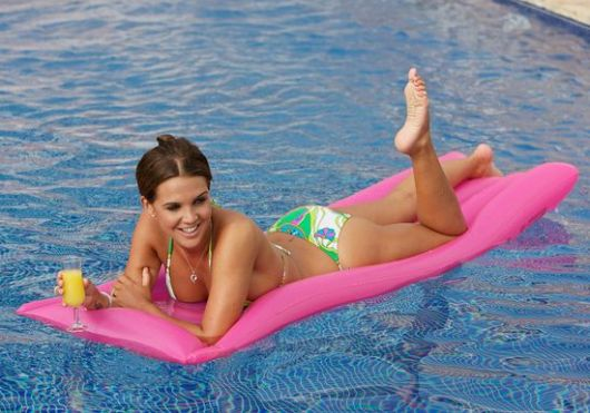 Danielle Lloyd at Danielle Lloyd Soaking Up the Spanish Sun on Holiday in Pool in Ibiza, Spain