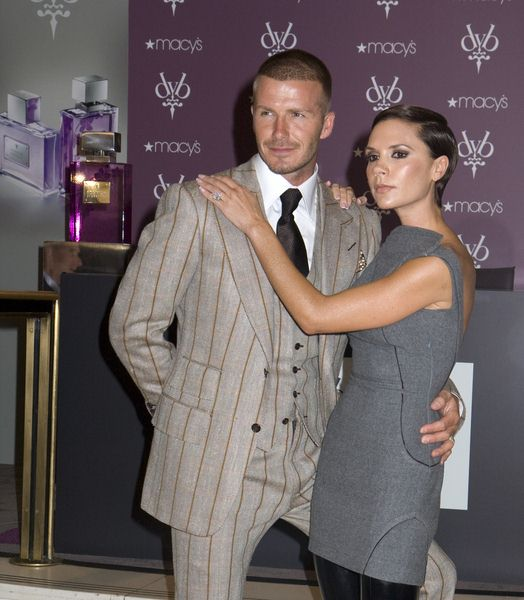 David Beckham, Victoria Beckham at David Beckham and Victoria Beckham Launch 'Beckham Signature' Fragrance Collection at Macy's in New York City, NY, USA