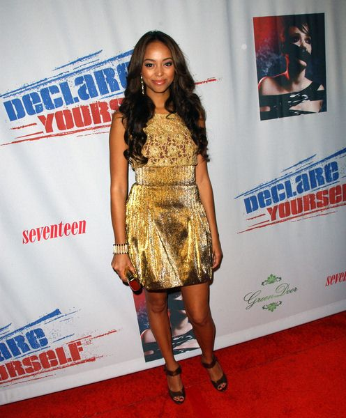 Amber Stevens at Declare Yourself's 'Domino Effect' Hollywood Party at The Green Door, Hollywood, CA. USA
