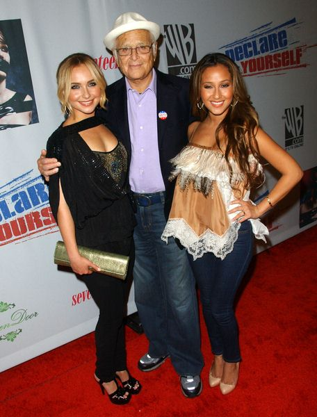 Hayden Panettiere, Norman Lear, Adrienne Bailon at Declare Yourself's 'Domino Effect' Hollywood Party at The Green Door, Hollywood, CA. USA
