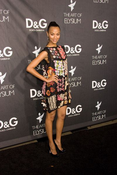 Zoe Saldana at DG Flagship Boutique Opening Benefiting The Art of Elysium at DG, Los Angeles, CA USA