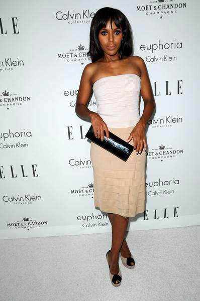Kerry Washington at ELLE Magazine's 15th Annual Women in Hollywood Tribute - Arrivals at The Four Seasons Hotel, Beverly Hills, CA, USA