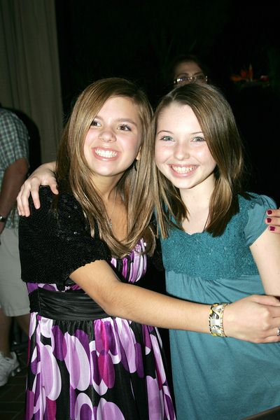 Aria Wallace, Sammi Hanratty at Evening With The Stars 2008 Party to benefit the Mother Goose Parade Association and it's ongoing educational Young Ambassadors program at W Hotel in San Diego, CA, USA