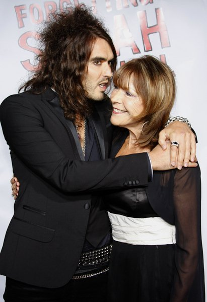 Russell Brand, Barbara(Mother) at 'Forgetting Sarah Marshall' World Premiere - Arrivals: Grauman's Chinese Theater - Hollywood, CA, USA