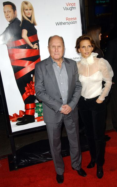 Robert Duvall, Luciana Pedraza (wife) at 'Four Christmases' World Premiere at Grauman's Chinese Theater, Hollywood, CA, USA