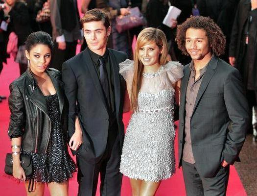 Vanessa Anne Hudgens, Zac Efron, Ashley Tisdale, Corbin Bleu at 'High School Musical 3: Senior Year' London Premiere at Empire Cinema Leicester Square, London, UK