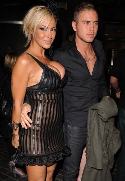 Jodie Marsh, Boyfriend at Jodie Marsh Arrives at 50 Dover Street in London on April 23, 2008 - 50 Dover Street, London, England