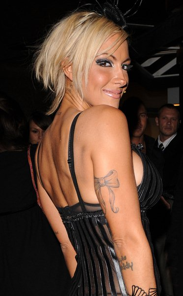 Jodie Marsh at Jodie Marsh Arrives at 50 Dover Street in London on April 23, 2008 - 50 Dover Street, London, England