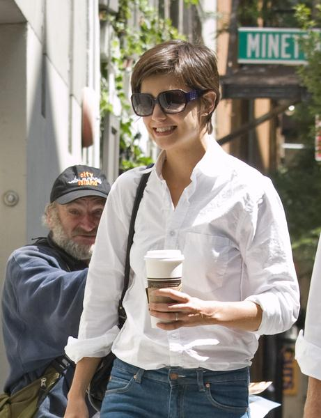 Katie Holmes at Katie Holmes Arriving for Rehearsals in Manhattan, New York City, NY, USA