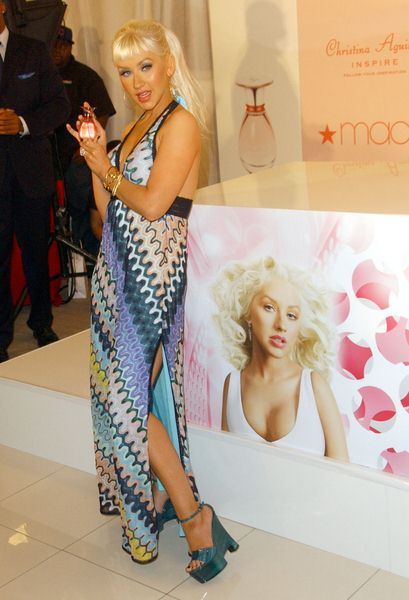 Christina Aguilera at Launch Of Christina Aguilera's Fragrance 'Inspire' - Macy's at the Glendale Galleria, Glendale, CA. USA