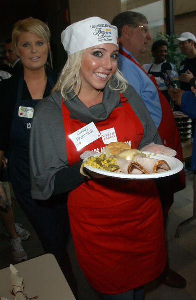 Casey Reinhardt at Los Angeles Mission Thanksgiving Meal For The Homeless at L.A. Mission and Anne Douglas Center, Los Angeles, CA. USA