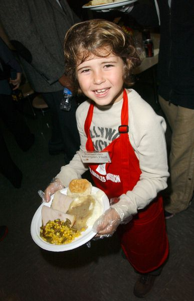 Jonathan Morgan Heit at Los Angeles Mission Thanksgiving Meal For The Homeless at L.A. Mission and Anne Douglas Center, Los Angeles, CA. USA