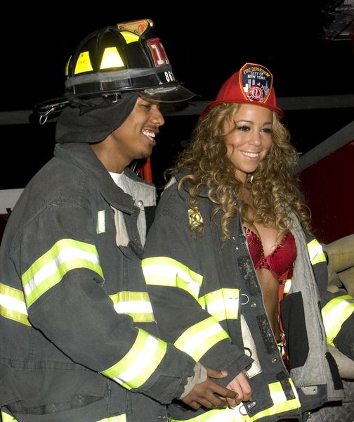 Mariah Carey, Nick Cannon at Mariah Carey Halloween Party at Marquee in New York, New York City, NY, USA
