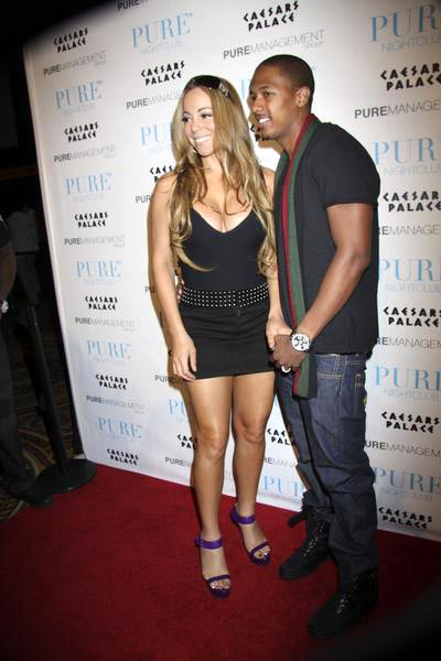 Mariah Carey, Nick Cannon at Mariah Carey Hosts a Birthday Party for Nick Cannon at Pure Nightclub - Pure Nightclub at Caesars Palace Hotel and Casino, Las Vegas, NV, USA