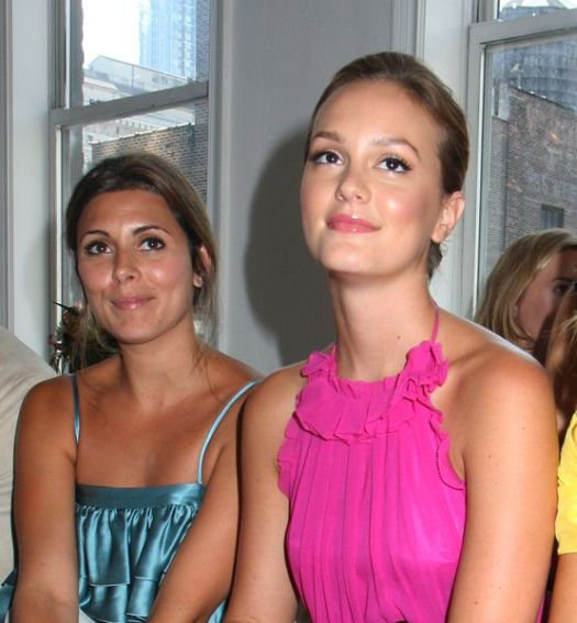 Jamie-Lynn Sigler, Leighton Meester at Mercedes-Benz Fashion Week Spring 2009 - Julie Haus Show at 28 West 36th Street, New York City, NY, USA