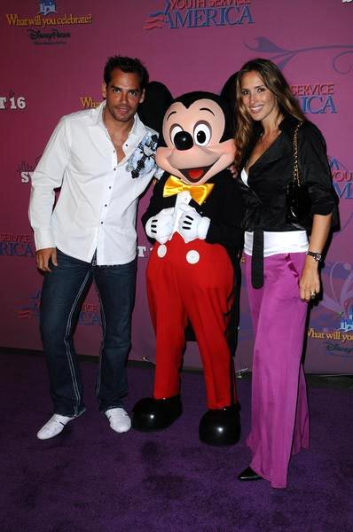 Cristian De La Fuente, Mickey Mouse, Angelica Castro at Miley Cyrus 'Sweet 16' Celebration at Disneyland, Anaheim, CA, USA