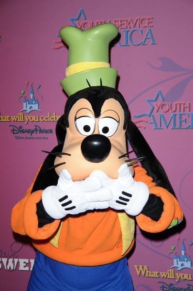 Goofy at Miley Cyrus 'Sweet 16' Celebration at Disneyland, Anaheim, CA, USA