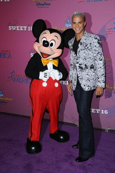 Mickey Mouse, Jai Rodriguez at Miley Cyrus 'Sweet 16' Celebration at Disneyland, Anaheim, CA, USA