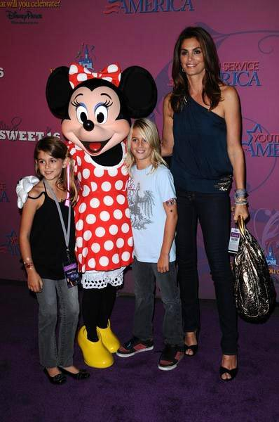Minnie Mouse, Cindy Crawford at Miley Cyrus 'Sweet 16' Celebration at Disneyland, Anaheim, CA, USA