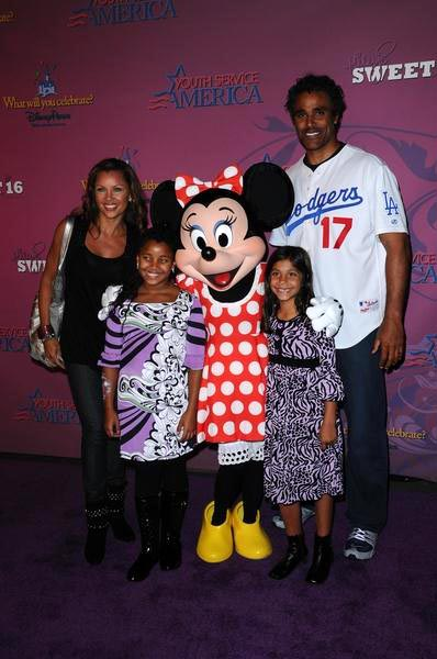 Vanessa Williams, Minnie Mouse, Rick Fox at Miley Cyrus 'Sweet 16' Celebration at Disneyland, Anaheim, CA, USA