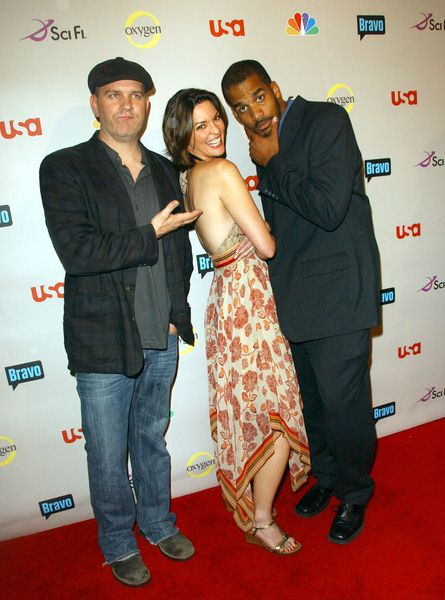 Mike O'Malley, Alana De La Garza, Reggie Austin at 2008 NBC/ USA/ Sci-Fi/ Bravo/ Oxygen Summer TCA Party - Arrivals at The Beverly Hilton Hotel, Beverly Hills, CA. USA