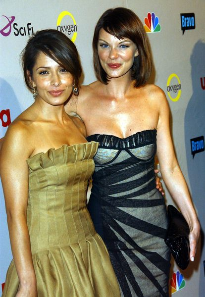 Sarah Shahi, Nicholle Hiltz at 2008 NBC/ USA/ Sci-Fi/ Bravo/ Oxygen Summer TCA Party - Arrivals at The Beverly Hilton Hotel, Beverly Hills, CA. USA