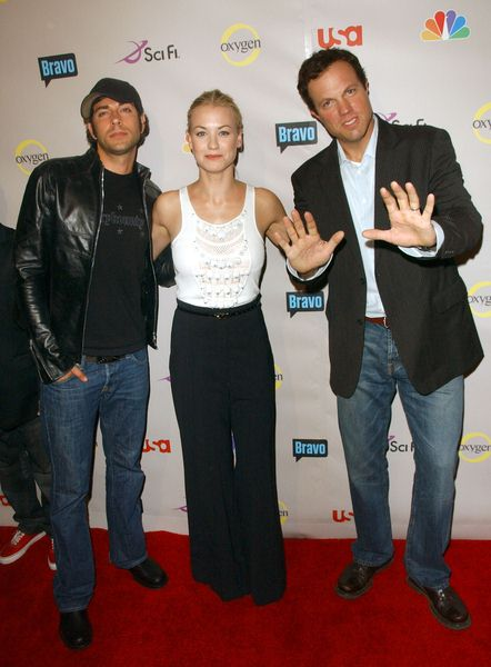 Zachary Levi, Yvonne Strahovski, Adam Baldwin at 2008 NBC/ USA/ Sci-Fi/ Bravo/ Oxygen Summer TCA Party - Arrivals at The Beverly Hilton Hotel, Beverly Hills, CA. USA